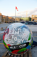 Toronto, ON, Canada - Saturday Dec. 10, 2016: Ball prior to the MLS Cup finals at BMO Field.