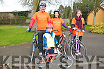 St. Patrick's Day Cycle: pictured at the St. Patrick's day Cycle from Listowel to Abbeyfeale and back were Anthony, Bridie, Amy & Kristisn Fealey from Lixnaw.