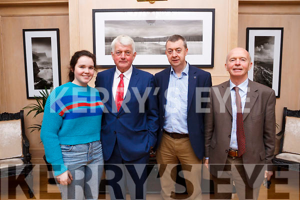 Enjoying the retirement party of John O'Callaghan from KerryAgri at the Ballygarry Hotel, Tralee on friday eveing last, from L to R: Anne Marie O'Dwyer, John O'Callaghan, Pat Murphy and Muiris O'Dwyer.