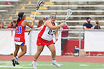 Redondo Beach, CA 05/14/11 - Bailey Czech (Redondo Union #23) and Sophia Aragon (Los Alamitos #21)in action during the 2011 US Lacrosse / CIF Southern Section Division 1 Girls Varsity Lacrosse Championship, Los Alamitos defeated Redondo Union 17-5.