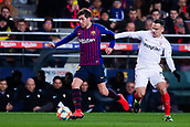 30th January 2019, Camp Nou, Barcelona, Spain; Copa del Rey football, quarter final, second leg, Barcelona versus Sevilla; Sergi Roberto of FC Barcelona breaks away from R Mesa of Sevilla CF