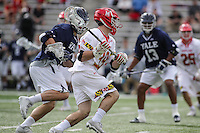 College Park, MD - February 25, 2017: Maryland Terrapins Ben Chisolm (39) attempts a shot during game between Yale and Maryland at  Capital One Field at Maryland Stadium in College Park, MD.  (Photo by Elliott Brown/Media Images International)