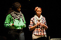 "18/05/2011.  ""Mad Blud"" opens at Theatre Royal Stratford East. A new work exploring the reality behind the headlines of knife crime. Picture shows Anna-Maria Nabiriye and Joanne Sandi. Photo credit should read Jane Hobson"