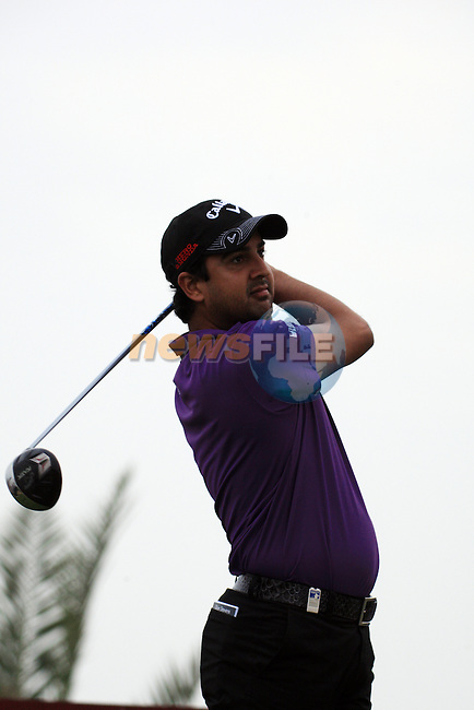 Shiv Kapur teeing off on the third tee on day one of the Abu Dhabi HSBC Golf Championship 2011, at the Abu Dhabi golf club 20/1/11..Picture Fran Caffrey/www.golffile.ie.