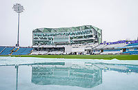 Picture by Allan McKenzie/SWpix.com - 13/04/2018 - Cricket - Specsavers County Championship - Yorkshire County Cricket Club v Essex County Cricket Club - Emerald Headingley Stadium, Leeds, England - Yorkshire's Headingley ground is waterlogged prior to the start of play against Essex on the opening day of the County Championship.