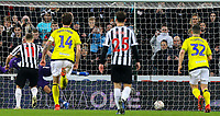 Newcastle United's Matt Ritchie slots the equaliser from the penalty spot<br /> <br /> Photographer Alex Dodd/CameraSport<br /> <br /> Emirates FA Cup Third Round - Newcastle United v Blackburn Rovers - Saturday 5th January 2019 - St James' Park - Newcastle<br />  <br /> World Copyright &copy; 2019 CameraSport. All rights reserved. 43 Linden Ave. Countesthorpe. Leicester. England. LE8 5PG - Tel: +44 (0) 116 277 4147 - admin@camerasport.com - www.camerasport.com
