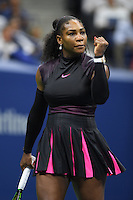 FLUSHING NY- SEPTEMBER 07: Serena Williams Vs Simona Halep on Arthur Ashe Stadium at the USTA Billie Jean King National Tennis Center on September 7, 2016 in Flushing Queens. Credit: mpi04/MediaPunch