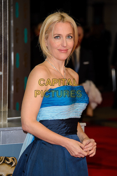 LONDON, ENGLAND - FEBRUARY 16: Gillian Anderson attends EE British Academy Film Awards in 2014  at the Royal Opera House on February 16, 2014 in London, England.<br /> CAP/CJ<br /> &copy;Chris Joseph/Capital Pictures