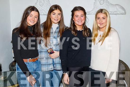 Jessica Warton, Freya O'Connor, Ellie Sugrue and Molly Quane enjoying the evening in Bella Bia on Saturday.