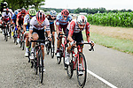 14 riders led by Thomas De Gendt (BEL) Lotto-Soudal in the breakaway during Stage 6 of the 2019 Tour de France running 160.5km from Mulhouse to La Planche des Belles Filles, France. 11th July 2019.<br /> Picture: ASO/Pauline Ballet   Cyclefile<br /> All photos usage must carry mandatory copyright credit (© Cyclefile   ASO/Pauline Ballet)