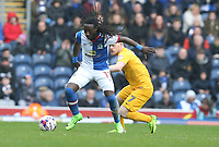 Blackburn Rovers' Marvin Emnes holds off the challenge from Preston North End's Daryl Horgan<br /> <br /> Photographer Stephen White/CameraSport<br /> <br /> The EFL Sky Bet Championship - Blackburn Rovers v Preston North End - Saturday 18th March 2017 - Ewood Park - Blackburn<br /> <br /> World Copyright &copy; 2017 CameraSport. All rights reserved. 43 Linden Ave. Countesthorpe. Leicester. England. LE8 5PG - Tel: +44 (0) 116 277 4147 - admin@camerasport.com - www.camerasport.com