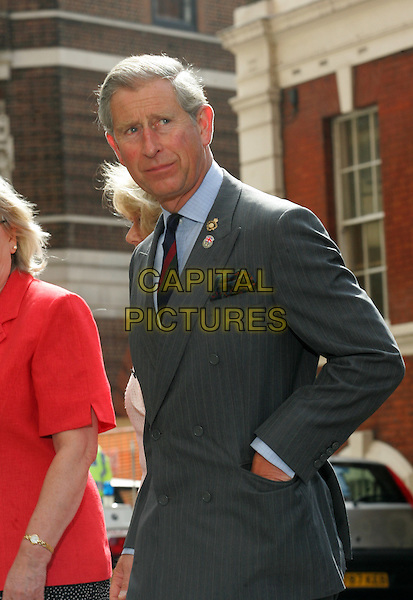 PRINCE CHARLES.Visiting St.Mary's Hospital in Paddington, London..July 8th 2005..half length royal.www.capitalpictures.com.sales@capitalpictures.com.© Capital Pictures.