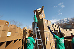 1202-04 127.CR2<br /> <br /> Students from EcoResponse, a group at Brigham Young University will break the world record for the largest cardboard box castle. BYU civil engineering students will design the castle and all other students are welcome to stop by and help build the castle.<br /> <br /> The cardboard box castle record was last set in September 2011 by students in Kirkland House, a student dormitory at Harvard University.  They constructed a castle out of 566 cardboard boxes.<br /> <br /> February 6, 2012<br /> <br /> Photography by Mark A. Philbrick<br /> <br /> Copyright BYU Photo 2012<br /> All Rights Reserved<br /> photo@byu.edu  (801)422-7322