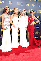 BURBANK - APR 26: Chrystee Pharris, Crystal Hunt, Donna Mills, Lindsay Hartley at the 42nd Daytime Emmy Awards Gala at Warner Bros. Studio on April 26, 2015 in Burbank, California