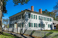 Williams House in historic Deerfield, Massachusetts, USA.