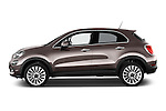 Car driver side profile view of a 2015 Fiat 500X Lounge 5 Door SUV