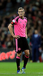 Dejected Darren Fletcher of Scotland during the FIFA World Cup Qualifying Group F match at Wembley Stadium, London. Picture date: November 11th, 2016. Pic David Klein/Sportimage
