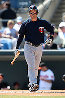 March 8, 2010:  Third Baseman Nick Punto of the Minnesota Twins during a Spring Training game at Ed Smith Stadium in Sarasota, FL.  Photo By Mike Janes/Four Seam Images