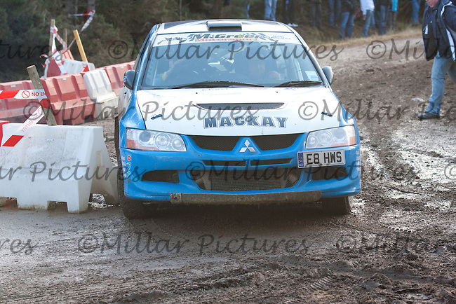 Course Car at Junction 12 on SS5 of Snowman Rally 2011