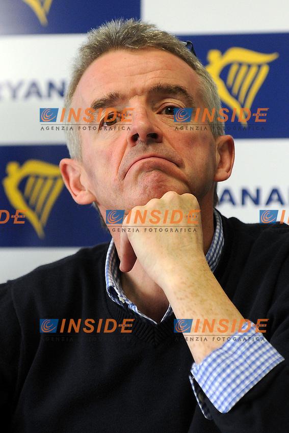 Bergamo Orio Al Serio 27/01/2015 - conferenza stampa Ceo Ryanair Michael O 'Leary foto Andrea Ninni/Image/Insidefoto