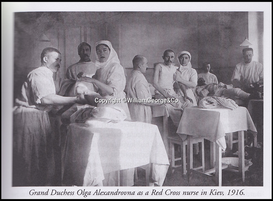BNPS.co.uk (01202 558833)<br /> Pic: WilliamGeorge&Co/BNPS<br /> <br /> Grand Duchess Olga Alexandrovna as a Red Cross nurse in Kiev, 1916.<br /> <br /> A remarkable series of letters from one of the surviving Romanovs have been unearthed which reveal her 'hate' towards the Allies in the aftermath of the Russian Revolution.<br /> <br /> The Grand Duchess Olga Alexandrovna - the younger sister of Tsar Nicholas II - penned more than 50 letters to her sister Xenia between 1916 and 1920 which provide a fascinating insight into the perilous existence of the Romanovs, the last Russian royal family.<br /> <br /> The letters were written mostly in English to get past the censors since the Romanovs lived in constant fear of assassination by Bolshevik forces.