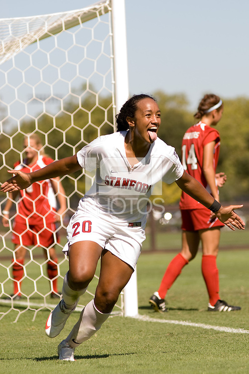 STANFORD, CA - SEPTEMBER 11: Mariah Nogueira of the Stanford Cardinal during Stanford's 6-0 win over Wisconsin on September 20, 2009 at Laird Q. Cagan Stadium in Stanford, California.