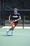 SAN DIEGO, CA - APRIL 24:  Lucas Tirelli of the Saint Marys Gaels during the WCC Tennis Championships at the Barnes Tennis Center on April 24, 2010 in San Diego, California.