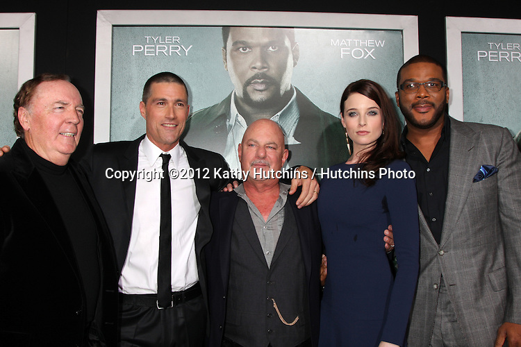 "LOS ANGELES - OCT 15:  James Patterson, Matthew Fox, Rob Cohen, Rachel Nichols, Tyler Perry arrives at the ""Alex Cross"" Premiere at ArcLight Cinemas Cinerama Dome on October 15, 2012 in Los Angeles, CA"