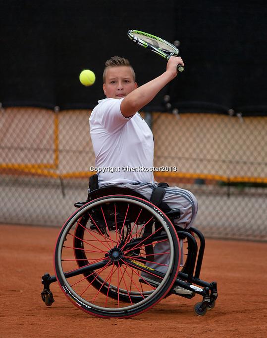 10-08-13, Netherlands, Rotterdam,  TV Victoria, Tennis, NJK 2013, National Junior Tennis Championships 2013,  Mitchel Graauw<br /> <br /> Photo: Henk Koster