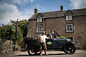 16/08/16<br /> <br /> Steven White waits for a fare outside the Old Bowling Green pub, Winster.x<br /> <br /> You'd be forgiven for thinking you'd had one drink too many if you called a cab in this Derbyshire Peak District village, because you'll get a 1929 vintage Model A Ford turn up as it's the only taxi in town!<br /> <br /> Full story here: https://fstoppressblog.wordpress.com/vintage-car-is-the-only-taxi-in-town/<br /> <br /> What's more, it's the oldest vehicle licensed for private hire in the UK, as cars usually have to be less than three years old to get a licence.<br /> <br /> But thanks to a special exemption to get round not having seat belts and the usual modern specifications, this fabulous-looking car is a regular sight pootling around the narrow lanes of the Derbyshire Dales.<br /> <br /> So when Debbie Slater needed a ride home from the Old Bowling Green pub in Winster she knew exactly who to call for an open-top ride in the sunshine.<br /> <br /> All Rights Reserved, F Stop Press Ltd. +44 (0)1773 550665