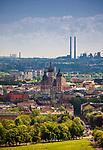 Panorama Krakowa, widok z Kopca Kościuszki, Polska<br /> Panorama of Cracow, view from Kościuszko Mound, Poland