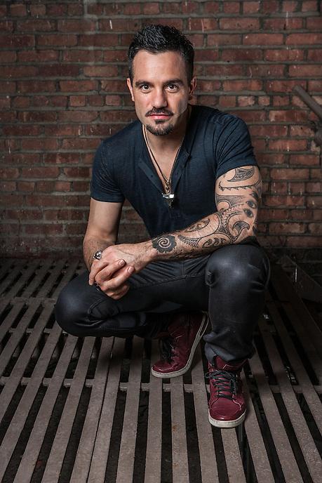 "Ramin Karimloo, star of the new Broadway production of ""Les Misérables"".  photo by Ari Mintz.  5/6/2014."