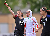 Monfalcone, Italy, April 26, 2016.<br /> USA's #20 Yates reacts after scoring the goal of 3-0 during USA v Iran football match at Gradisca Tournament of Nations (women's tournament). Monfalcone's stadium.<br /> &copy; ph Simone Ferraro / Isiphotos
