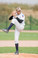 12 Aug 2007: Nicolas Dubaut pitches against Senart during game 5 of the french championship finals between Templiers (Senart) and Huskies (Rouen) in Chartres, France. Huskies defeated Templiers 9-8 to win their fourth french championship.