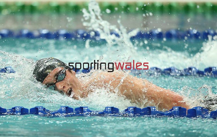 Delhi 2010 Commonwealth Games .David Davies (Wales) competing in the men's 1500m  final at Dr S.P Mukherjee Aquatics Complex..09.10.10.Photo Credit-Steve Pope-Sportingwales.