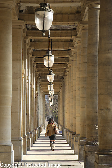 Courtyard of Palais Royal, Paris, France