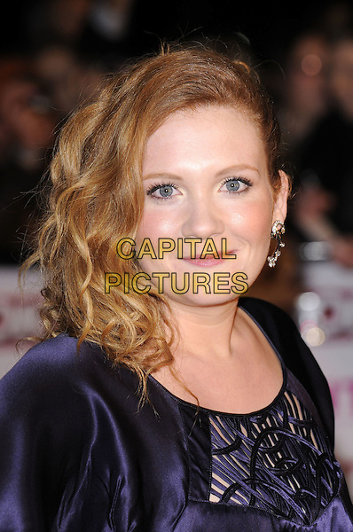 JENNIE McALPINE .arriving at the National Television Awards held at the Royal Albert Hall,  London, England, 29th October 2008..red carpet arrivals portrait headshot purple .CAP/FIN.©Steve Finn/Capital Pictures