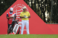 Hideki Matsuyama (JPN) on the 17th tee during the final round of the WGC HSBC Champions, Sheshan Golf Club, Shanghai, China. 03/11/2019.<br /> Picture Fran Caffrey / Golffile.ie<br /> <br /> All photo usage must carry mandatory copyright credit (© Golffile | Fran Caffrey)