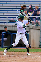 Beloit Snappers outfielder Mickey McDonald (4) at bat during a Midwest League game against the Quad Cities River Bandits on May 20, 2018 at Pohlman Field in Beloit, Wisconsin. Beloit defeated Quad Cities 3-2. (Brad Krause/Four Seam Images)
