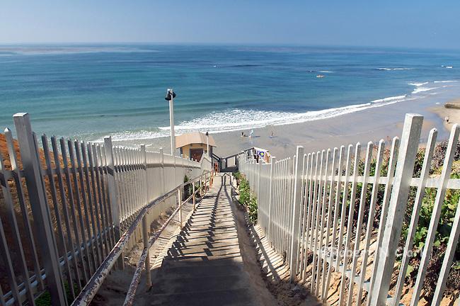 Beach access on the Bluff at Solana Beach