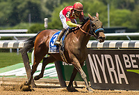 ELMONT, NY - JUNE 10: Abel Tasman #3, ridden by Mike Smith, wins the Acorn Stakes on Belmont Stakes Day at Belmont Park on June 10, 2017 in Elmont, New York (Photo by Jesse Caris/Eclipse Sportswire/Getty Images)