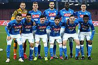 Napoli team Line-Up  <br /> Napoli 13-01-2019  Stadio San Paolo <br /> Football Calcio Coppa Italia 2018/2019 round of 16  <br /> Napoli - Sassuolo<br /> Foto Cesare Purini / Insidefoto