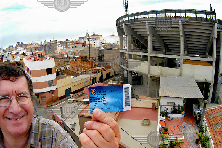 Francisco Ferrer, aka Paco, is a season ticket holder of Villarreal football club, and his roof terrace has a view of their stadium, El Madrigal.