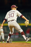 Relief pitcher Brandon Parrent #30 of the Texas A&M Aggies in action against the Houston Cougars at Minute Maid Park on March 6, 2011 in Houston, Texas.  Photo by Brian Westerholt / Four Seam Images