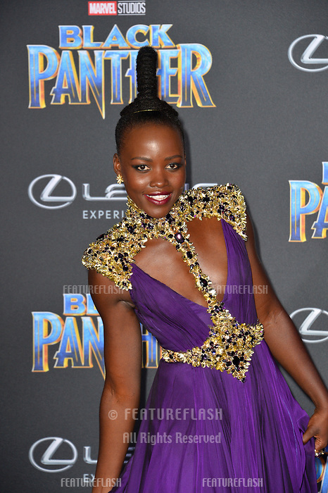 Lupita Nyong'o at the world premiere for &quot;Black Panther&quot; at the Dolby Theatre, Hollywood, USA 29 Jan. 2018<br /> Picture: Paul Smith/Featureflash/SilverHub 0208 004 5359 sales@silverhubmedia.com