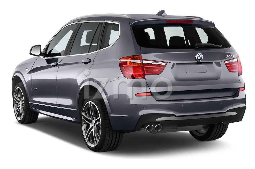 Car pictures of rear three quarter view of 2016 BMW X3 xDrive28d 5 Door SUV Angular Rear