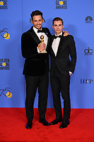 James Franco &amp; Dave Franco at the 75th Annual Golden Globe Awards at the Beverly Hilton Hotel, Beverly Hills, USA 07 Jan. 2018<br /> Picture: Paul Smith/Featureflash/SilverHub 0208 004 5359 sales@silverhubmedia.com