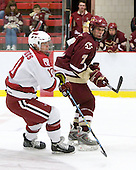 Eric Kroshus (Harvard - 10), Carl Sneep (BC - 7) - The Boston College Eagles defeated the Harvard University Crimson 3-2 on Wednesday, December 9, 2009, at Bright Hockey Center in Cambridge, Massachusetts.