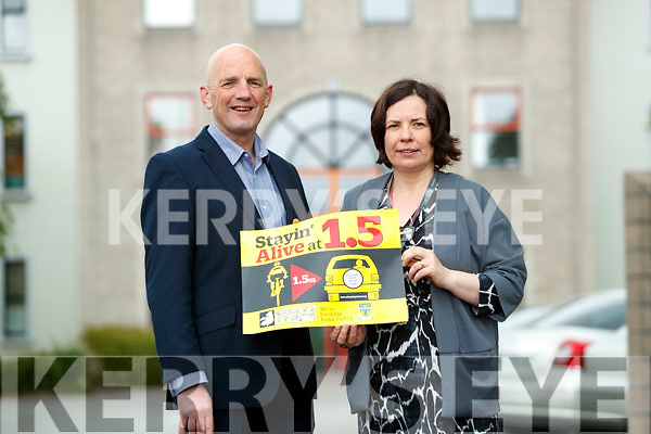 Brendan Kennelly, Kerry's Eye and CEO of Kerry County Council Moira Murrell pictured at the launch of the Stayin' Alive at 1.5 campaign.