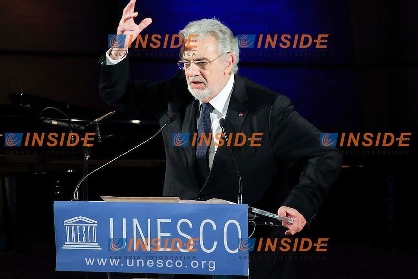 Placido Domingo .Parigi 21/11/2012 Cercle De L'Union Interallie.nomina dell'Ambasciatore di buona volonta' dell'Unesco. .Foto Stephane Allaman / Panoramic / Insidefoto.ITALY ONLY
